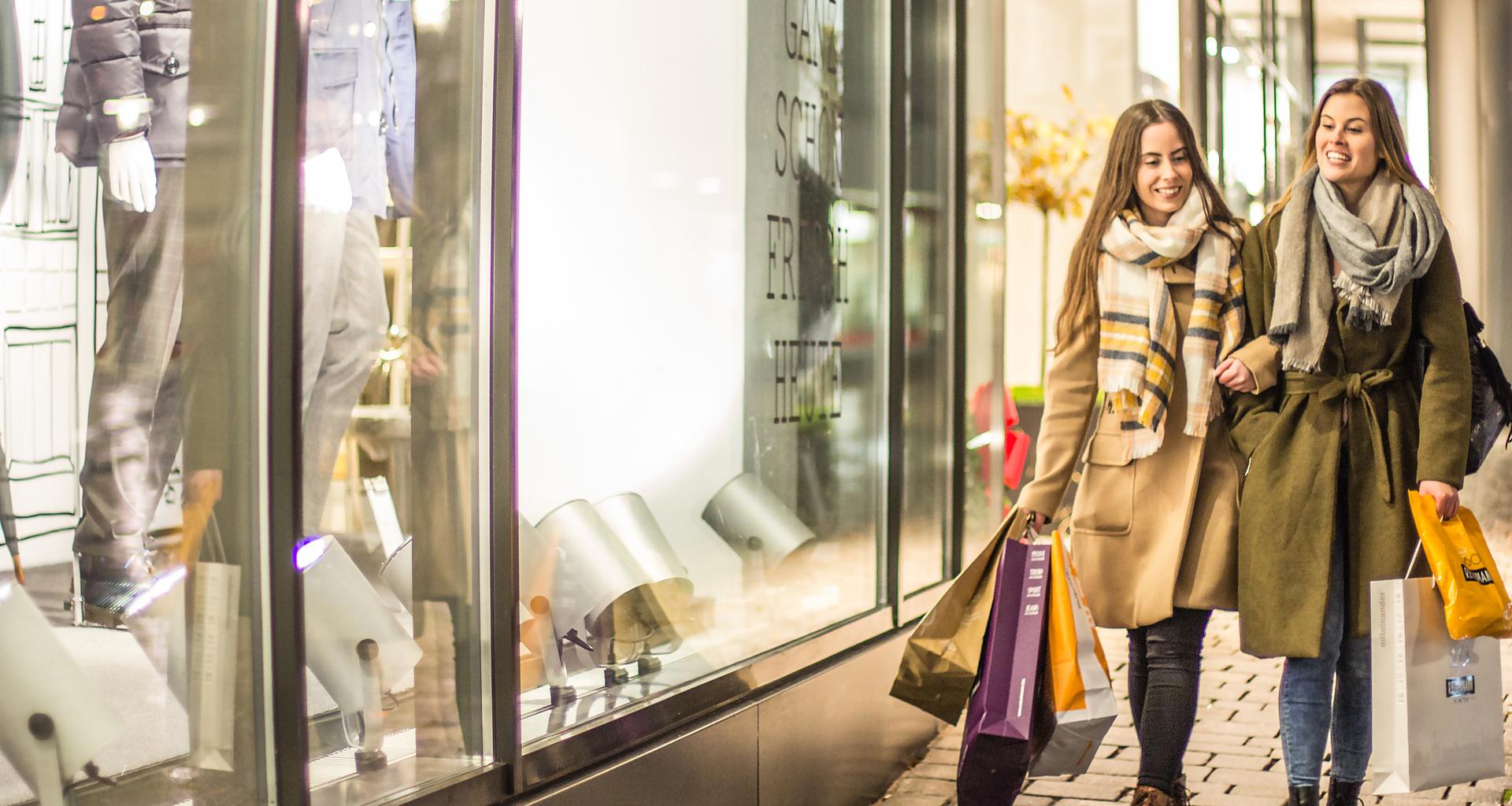 Zahlreiche Geschäfte und Shops laden ein zum Einkaufen in Kempten