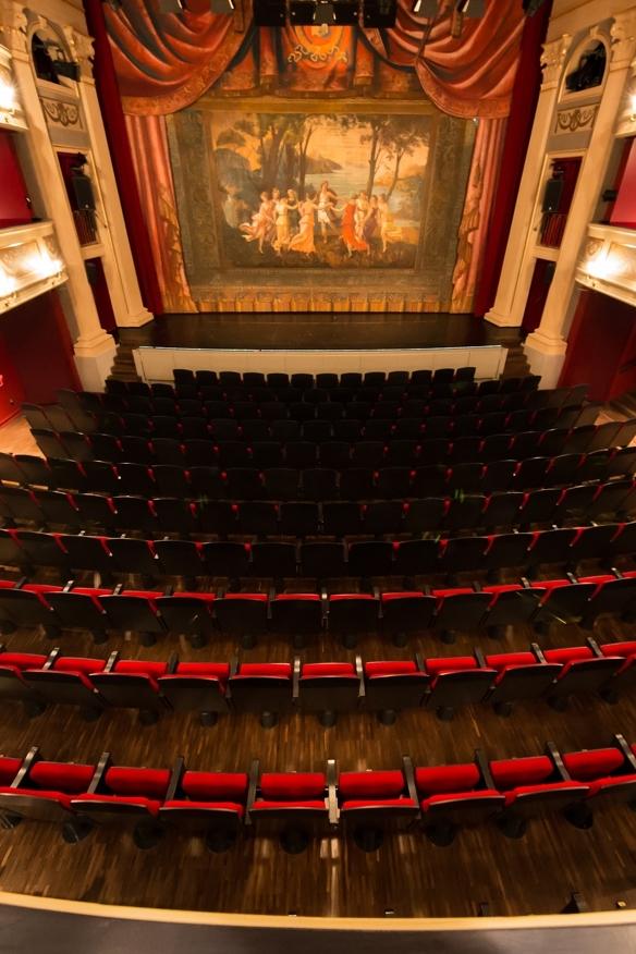 Innenansicht des Saals im Theater in Kempten