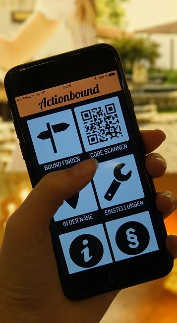 """Digitale Ansicht der App """"Actionbound"""""""