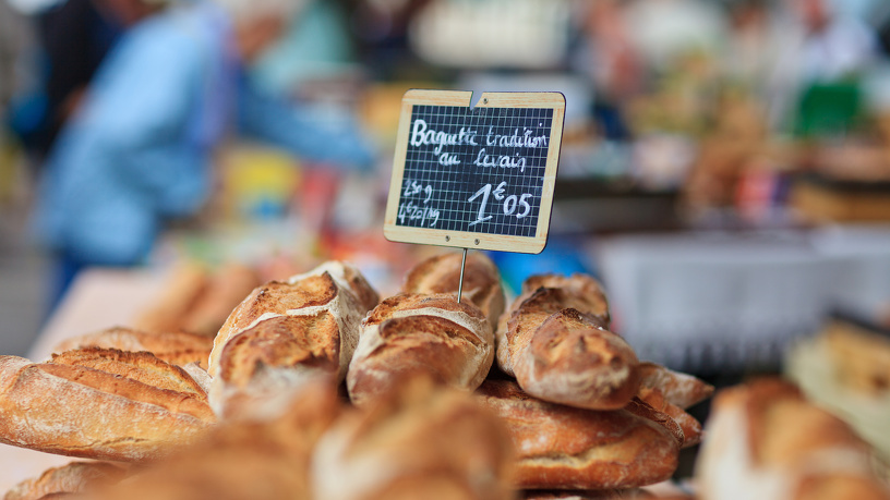 Detailaufnahme Brot auf Bauernmarkt