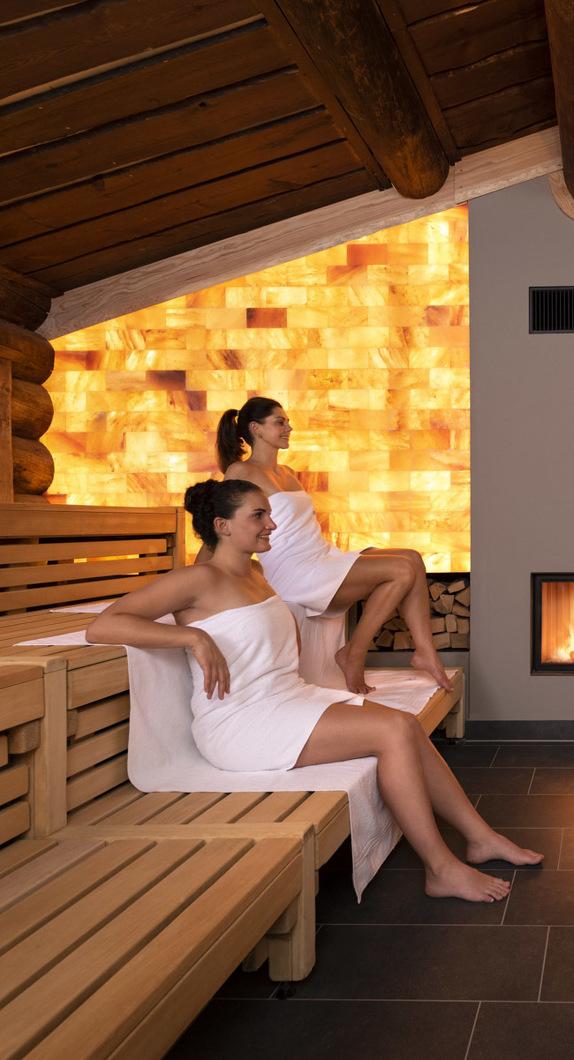 Innenansicht der Kelo-Sauna im CamboMare