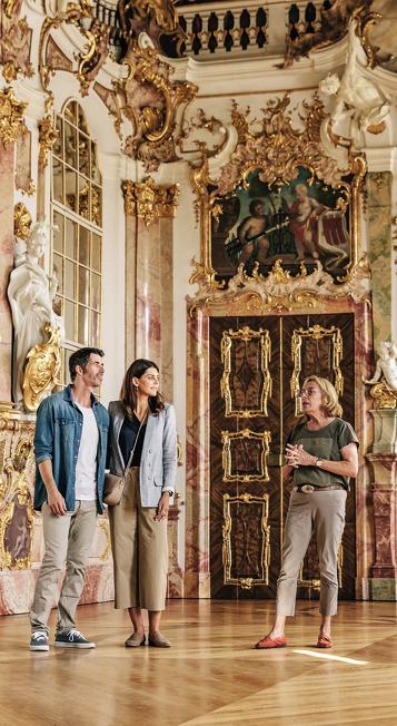 Die Prunkräume der Residenz eine der Sehenswürdigkeiten in Kempten