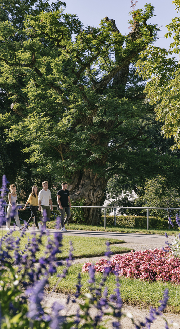Der Hofgarten eine der Sehenswürdigkeiten in Kempten