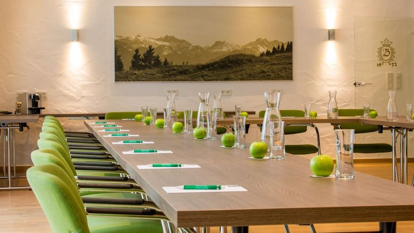 Ein Besprechungszimmer im Hotel Bayerischer Hof in Kempten