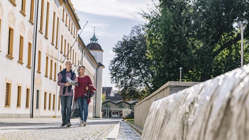 Der Residenzplatz gehört zu den Lieblings-Plätzen in Kempten