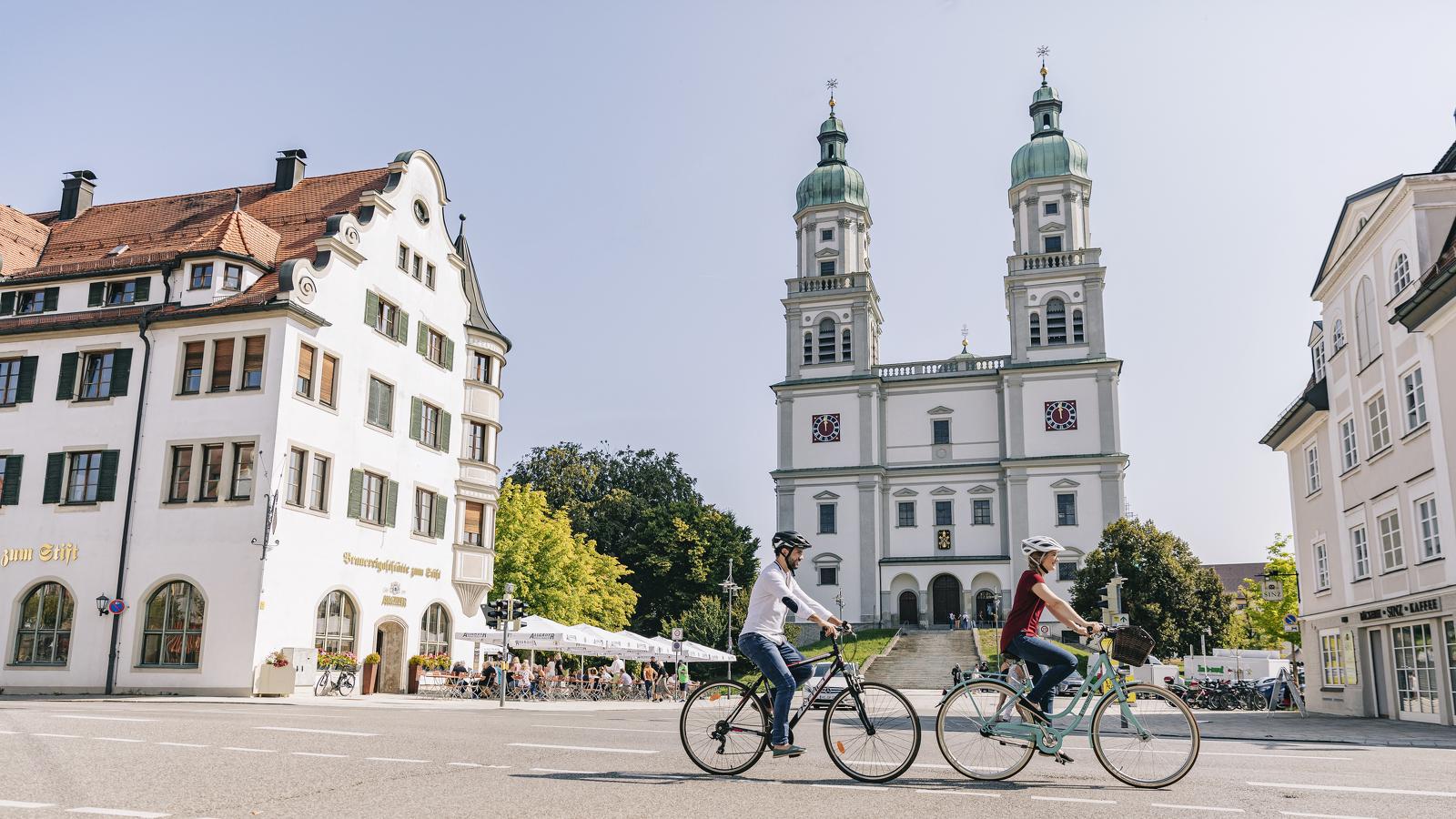 Der Stiftsplatz gehört zu den Lieblings-Plätzen in Kempten