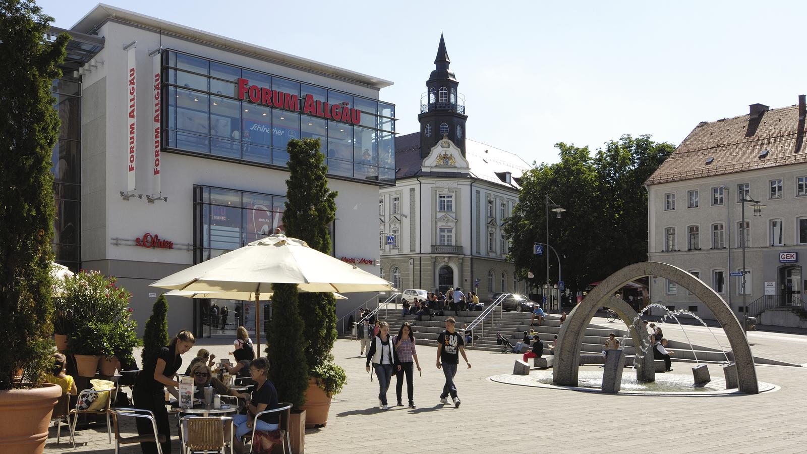 Der August-Fischer-Platz gehört zu den Lieblings-Plätzen in Kempten