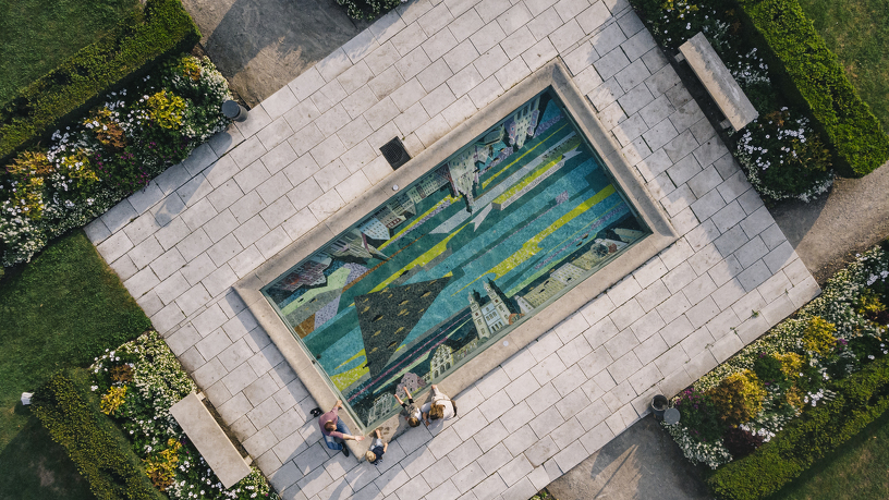 Ein einzigartiges Mosaik im Hofgarten in Kempten