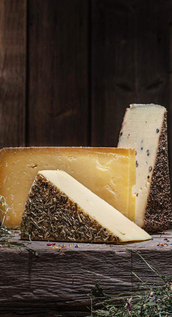Eine Detailaufnahme von Allgäuer Käse © Allgäu GmbH, Fotodesign Wolfgang Fallier