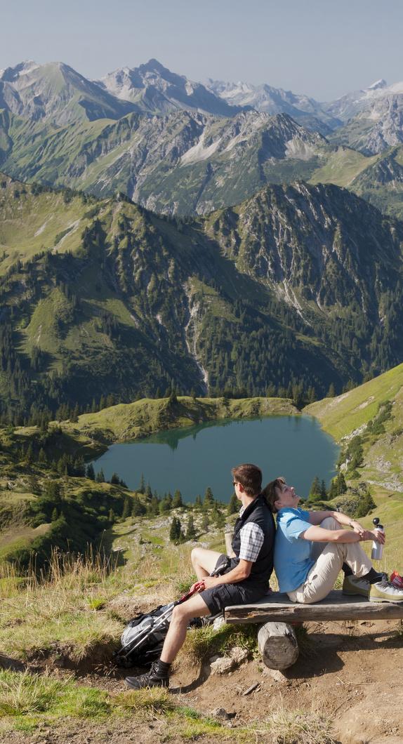 Eine alpine Wanderung in den Allgäuer Alpen © Klaus-Peter Kappest, Germany