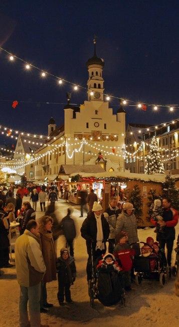 Der Weihnachtsmarkt Kempten gehört zu den Veranstaltungshöhepunkten in Kempten
