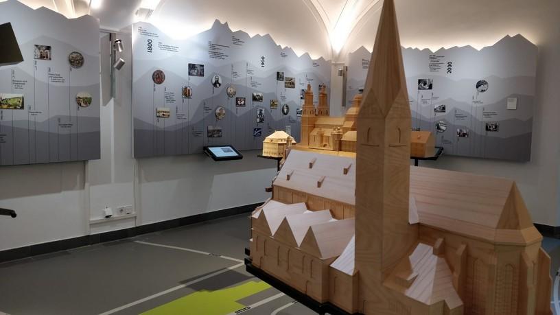 Innenansicht eines Themenraums im Kempten-Museum im Zumsteinhaus
