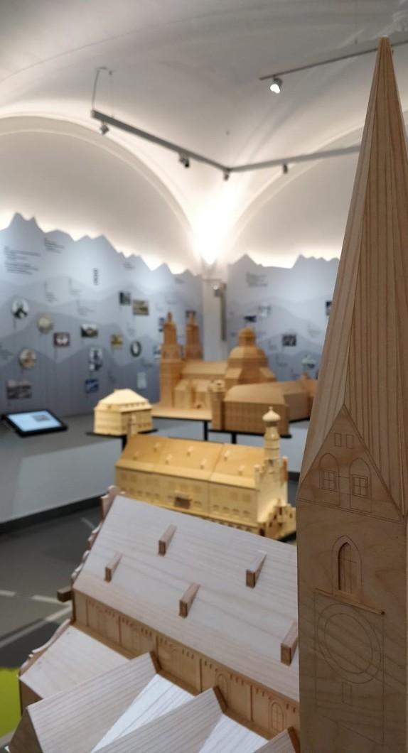 Innenansicht eines Themenraumes im Kempten-Museum im Zumsteinhaus