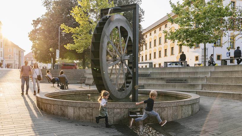 Familienspaß am Mühlrad in Kempten in der Gerberstraße