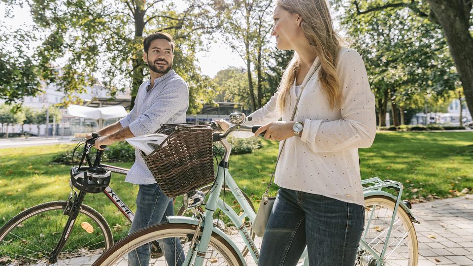 Radfahren in der Stadt - Anreise Allgäu