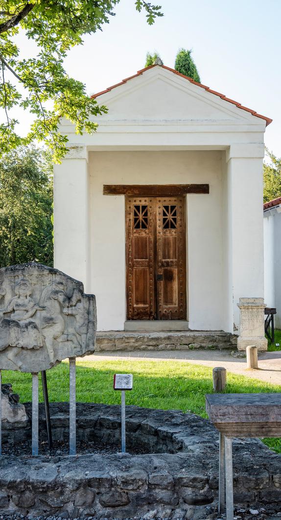 Der Tempelbezirk im Archäologischer Park Cambodunum