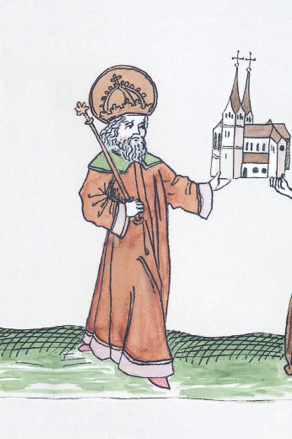 Gezeichnete Darstellung Karl des Großen