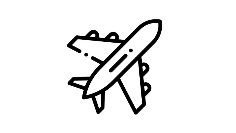 Icon Flugzeug - Anreise Allgäu