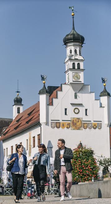 Das Rathaus in Kempten ist eines der vielen Sehenswürdigkeiten der Stadt