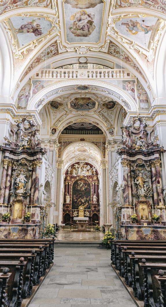 Die Basilika St. Lorenz ist eine der Sehenswürdigkeiten in Kempten