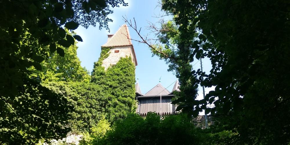 Die Burghalde von unten in Kempten