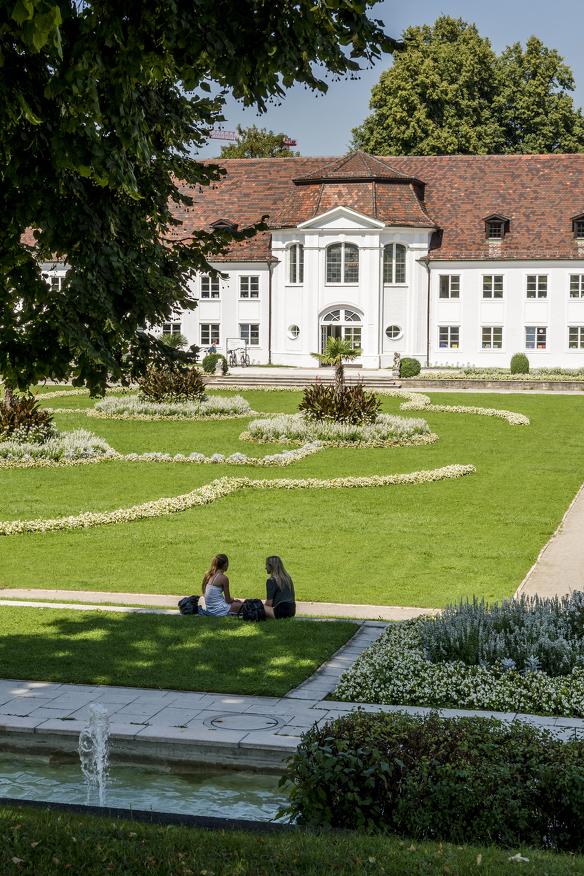 Der Hofgarten mit Orangerie in Kempten