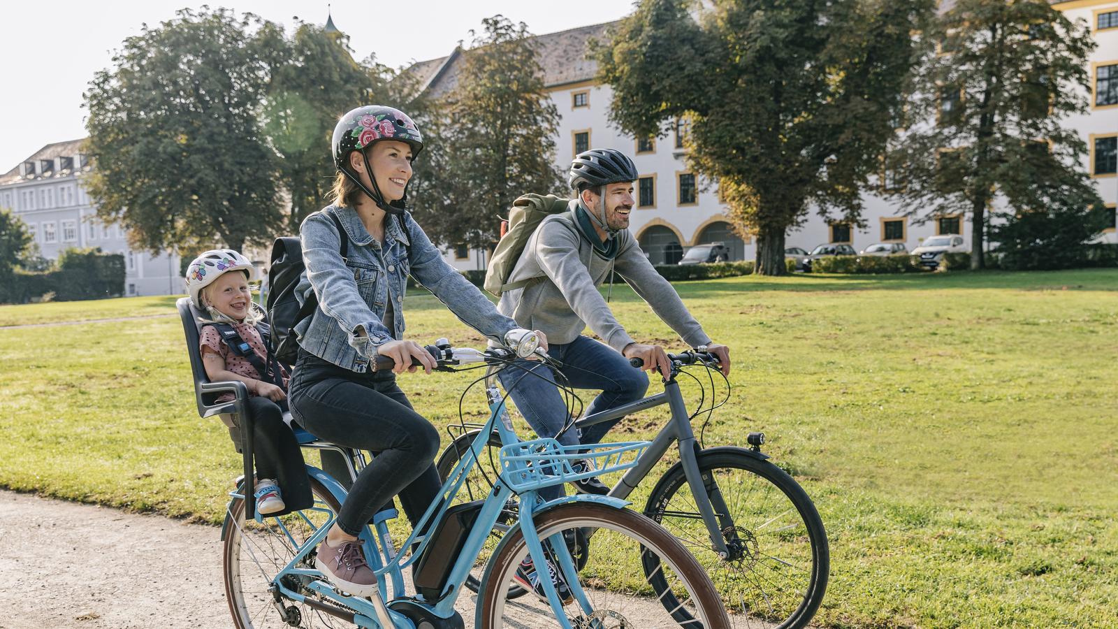 Familien-Radtour durch den Hofgarten in Kempten