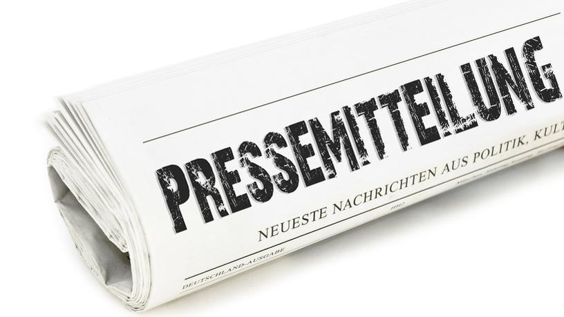 Zeitung mit Pressemitteilungen
