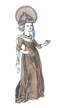 Eine gezeichnete Darstellung der Hildegard