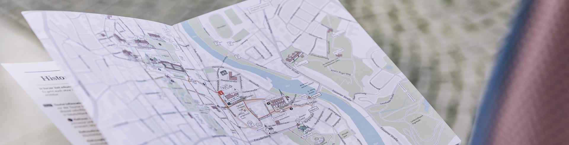 Detailaufnahme des Prospekts Schöne Zeit in Kempten