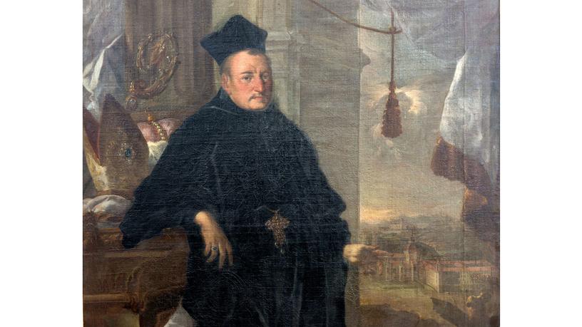 Gemalte Darstellung eines Fürstabts