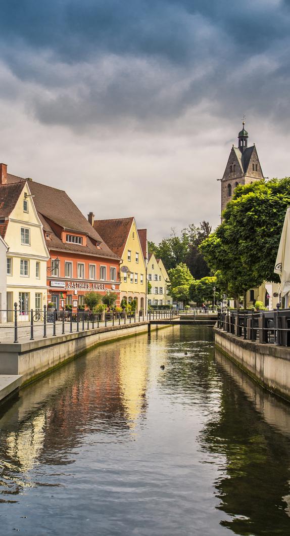 Die Memminger Altstadt © Allgäu GmbH, Fouad Vollmer