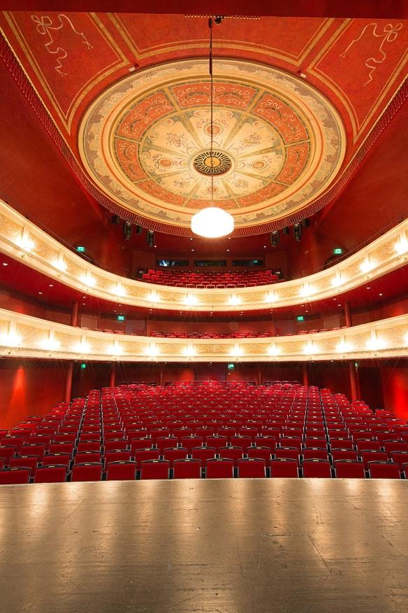 Innenansicht des Theatersaals im Theater in Kempten