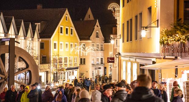 Fußgängerzone während der Kemptener Einkaufsnacht