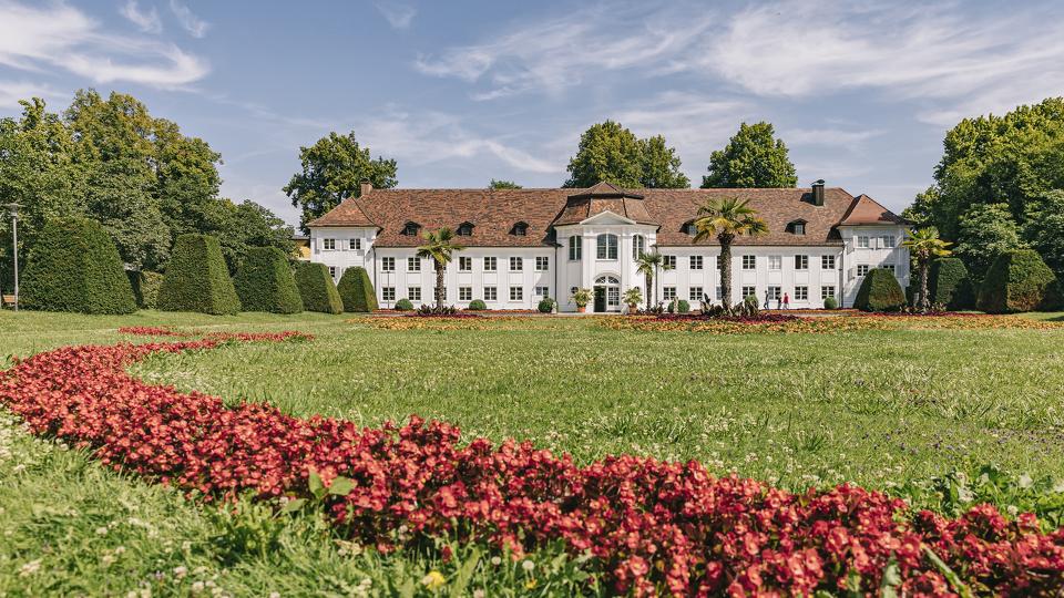 Der Hofgarten mit Orangerie in Kemptn