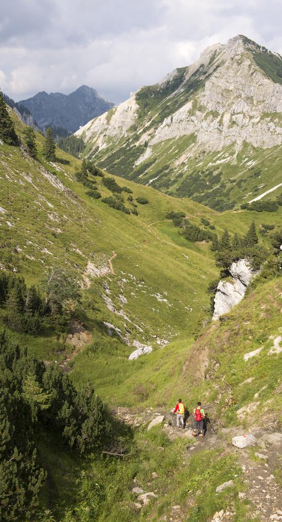 Ein Blick auf die Ammergauer Alpen, Hochplattentour © Allgäu GmbH, Klaus-Peter Kappest