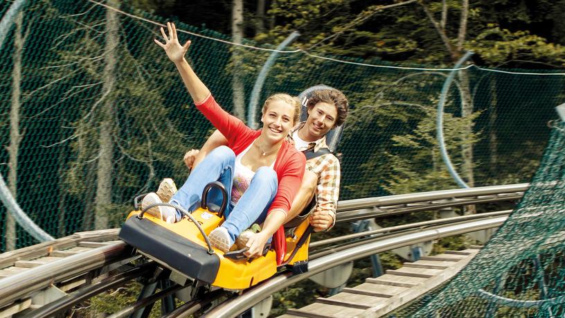 Spaß mit dem Alpsee Coaster der Alpsee Bergwelt