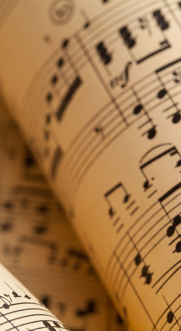 Notenblatt im Rahmen des Kammermusikfestivals