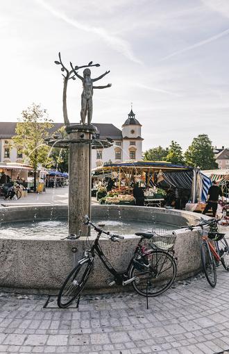 Der Brunnen am Hildegardplatz