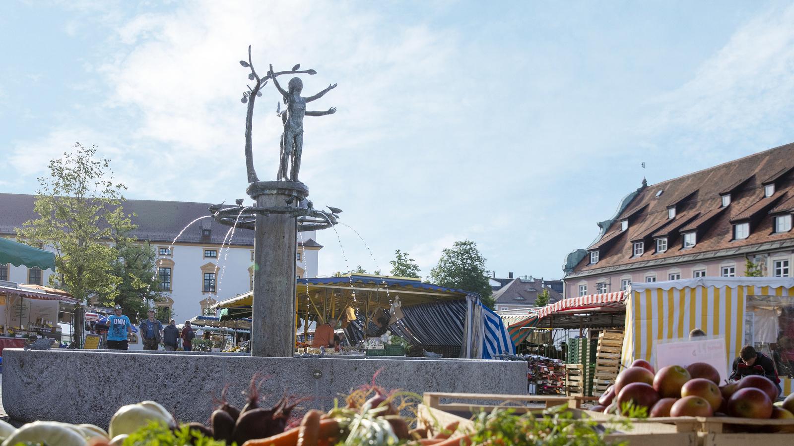 Blick auf dem Marktbrunnen