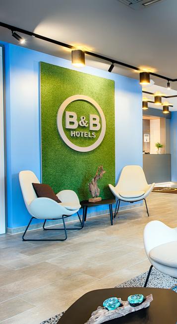 Aufenthaltsbereich im B&B Hotel Kempten